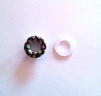 Блочка (люверс) 6 мм эмаль с рисунком № 1 с пластиковым кольцом