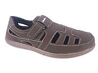 Туфли коричневый мужские на резинках Cardinal Б-1