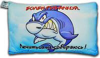 Антистрессовая подушка 40х25см 3K Fish «Рыбалка» Болен рыбалкой. Лечиться не собираюсь
