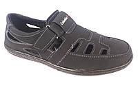 Туфли черный мужские на резинках Cardinal Б-1