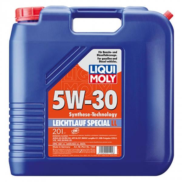 Синтетическое моторное масло - Liqui Moly Special Tec LL SAE 5W-30   20 л., фото 2