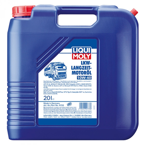 Полусинтетическое моторное масло - Liqui Moly LKW Langzeit-Motoroil SAE 10W-40 Basic   20 л.