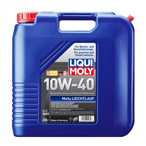 Полусинтетическое моторное масло - Liqui Moly MoS2 Leichtlauf SAE 10W-40 20 л., фото 2