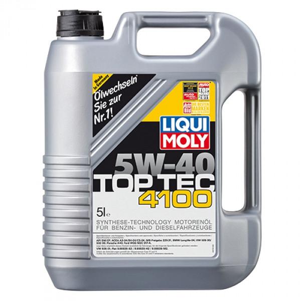 Синтетическое моторное масло - Liqui Moly Top Tec 4100 SAE 5W-40 5 л.