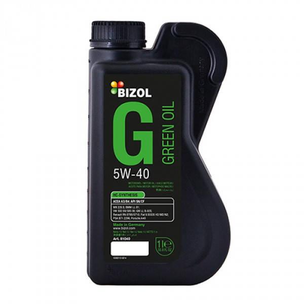 Синтетическое моторное масло -  BIZOL Green Oil 5W-40 1л, фото 2