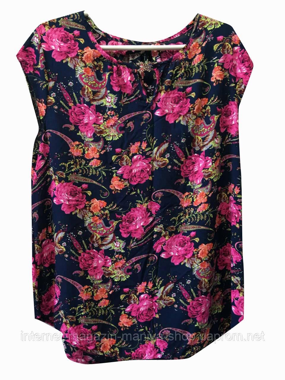 Блуза женская батал украшение (лето)