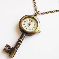 "Часы кулон ""Ключ"" на цепочке (кварцевые)."