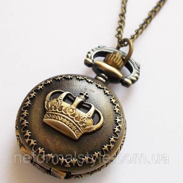 """Карманные часы кулон """"Корона"""" под бронзу. - """"СТИЛЬ"""" в Мариуполе"""