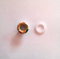 Блочка (люверс) 6 мм эмаль с рисунком № 6 с пластиковым кольцом