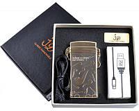 Электроимпульсная зажигалка USB в подарочной упаковке HONEST PZ4760