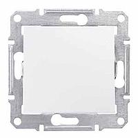 Переключатель 1-клавишный (выключатель проходной), IP44, белый, Sсhneider Electric Sedna Шнайдер Седна