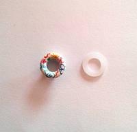 Блочка (люверс) 6 мм эмаль с рисунком № 13 с пластиковым кольцом