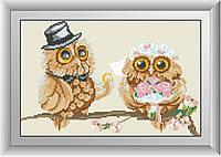 Набор алмазная мозаика Dream Art Свадьба совят (DA-30316) 25 х 39 см