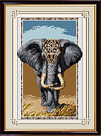 Картина алмазная вышивка Dream Art Слон (DA-30318) 33 х 48 см