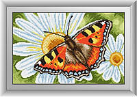 Набор алмазная мозаика Dream Art Мотылек на ромашке (DA-30365) 25 х 41 см