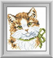 Алмазная техника без коробки Dream Art Зеленоглазый котенок (DA-30364M) 15 х 17 см