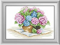 Картина алмазная вышивка Dream Art Гортензии в вазе (DA-30366) 38 х 55 см