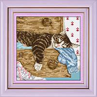 Набор алмазная вышивка Dream Art Спящий кот (DA-30373) 30 х 32 см