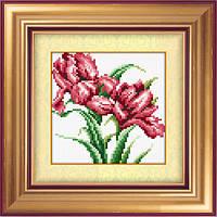 Алмазная живопись без коробки Dream Art Красные ирисы (DA-30386M) 15 х 15 см