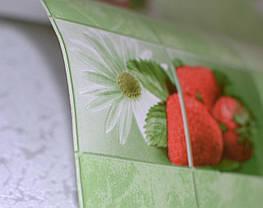 Обои на стену, клубника, ромашки, зеленый, влагостойкие, бумажные, Клубничка 878-04, 0,53*10м, фото 3