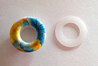 Блочка (люверс) 10 мм эмаль с рисунком № 15 с пластиковым кольцом