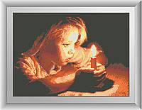 Вышивка камнями Dream Art Девочка со свечой (DA-30233) 31 х 43 см
