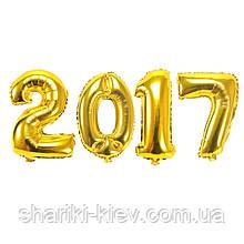 Цифры воздушные 2017 из Больших фольгированных шаров на выпуской