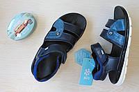 Кожаные босоножки для мальчика подростка тм BiKi р. 33,34