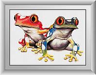 Вышивка камнями Dream Art Красочные лягушки (DA-30362) 25 х 36 см