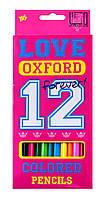 "Карандаши 12 цветов ""Oxford"" розовый 1 Вересня 290318"