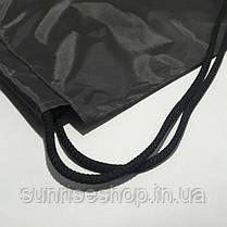 Рюкзак для сменной обуви черный, фото 3