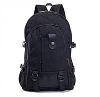 Вместительный тканевый рюкзак.Черный.