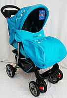 Прогулочная детская коляска  Sigma K-038F. Голубая