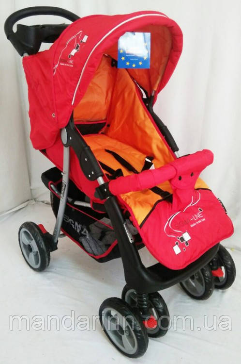 """Прогулочная детская коляска  Sigma K-038F. Красная - Интернет-магазин """"MagShop"""" в Одессе"""