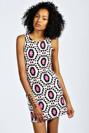 Новое короткое платье в принт Boohoo, фото 2