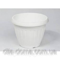 Горшок для цветов Бутон 15,5 см белый