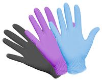 """Перчатки нитриловые голубые размер """" L """""""