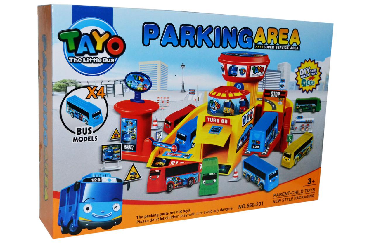 Детский гараж парковка Автобусы.Детский гараж.