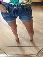 Женские джинсовые шорты с подворотом (9868 br)