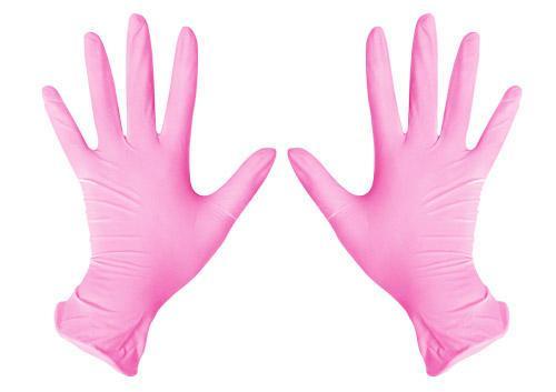 """Рукавички нітрилові рожеві розмір """"XL"""""""