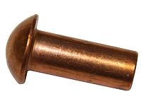 Заклепка медная под молоток DIN 660