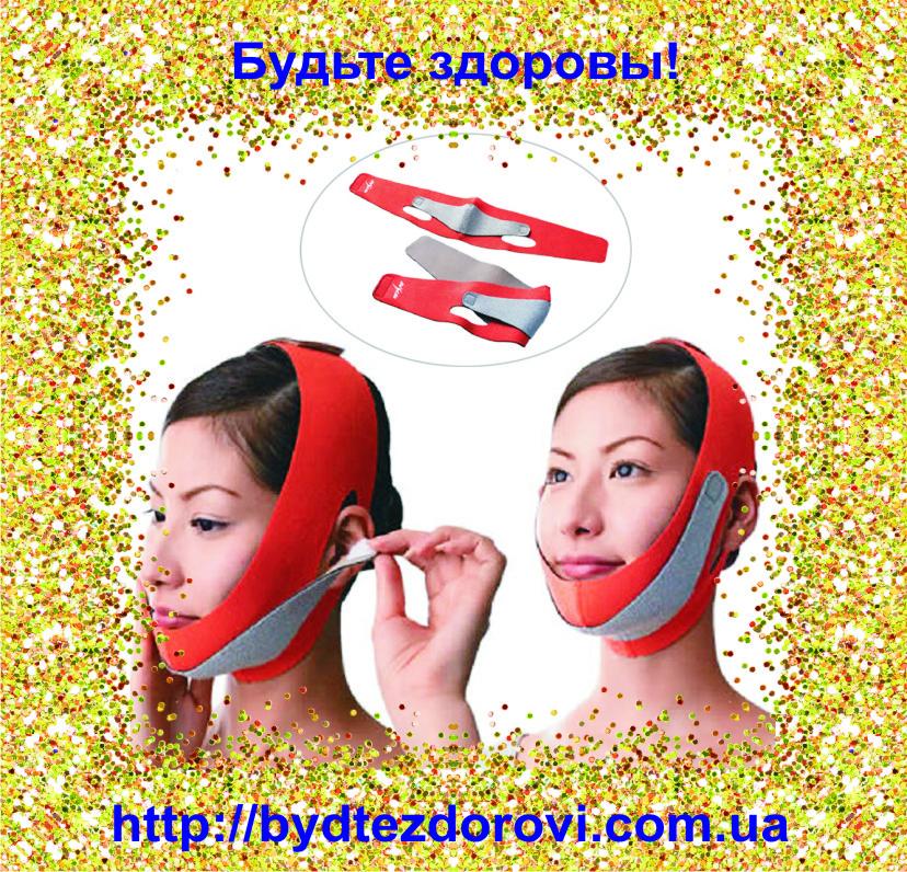 Неопреновый бандаж для коррекции овала лица (второй подбородок, щеки).