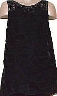 Кружевная черная блуза без рукавов. Англия