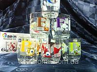 Набор стаканов из стекла 6 шт Буквы