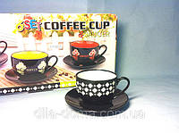 Чайный набор 6 чашек + 6 блюдец Черный