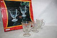 Набор стеклянных чашек 12 персон