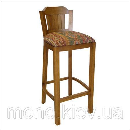 Барный деревяный стул со спинкой Кантри