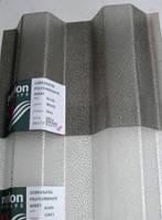 Профільний полікарбонат (прозорий шифер) Шагрінь 1,06х2,24м / Профилированный поликарбонат (шифер) прозрачный.