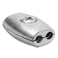Зажим для троса 2 мм обжимной (бочка)