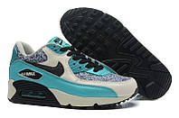Кроссовки женские Nike Air Max 90 Bright Jade Black (найк аир макс, найк макс) серо-голубые